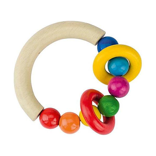 Greifling halbrund mit Perlen und 2 Ringen, HEIMESS