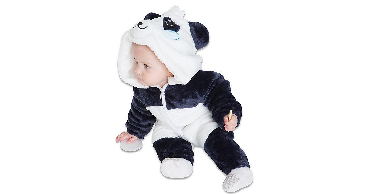 Baby Strampler Kostüm (Einhorn, Drache, Fuchs, Panda, Dino, Pinguin, und mehr) Kinderkostüme weiß Gr. 80/86