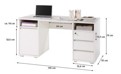 Schreibtisch Mila weiß