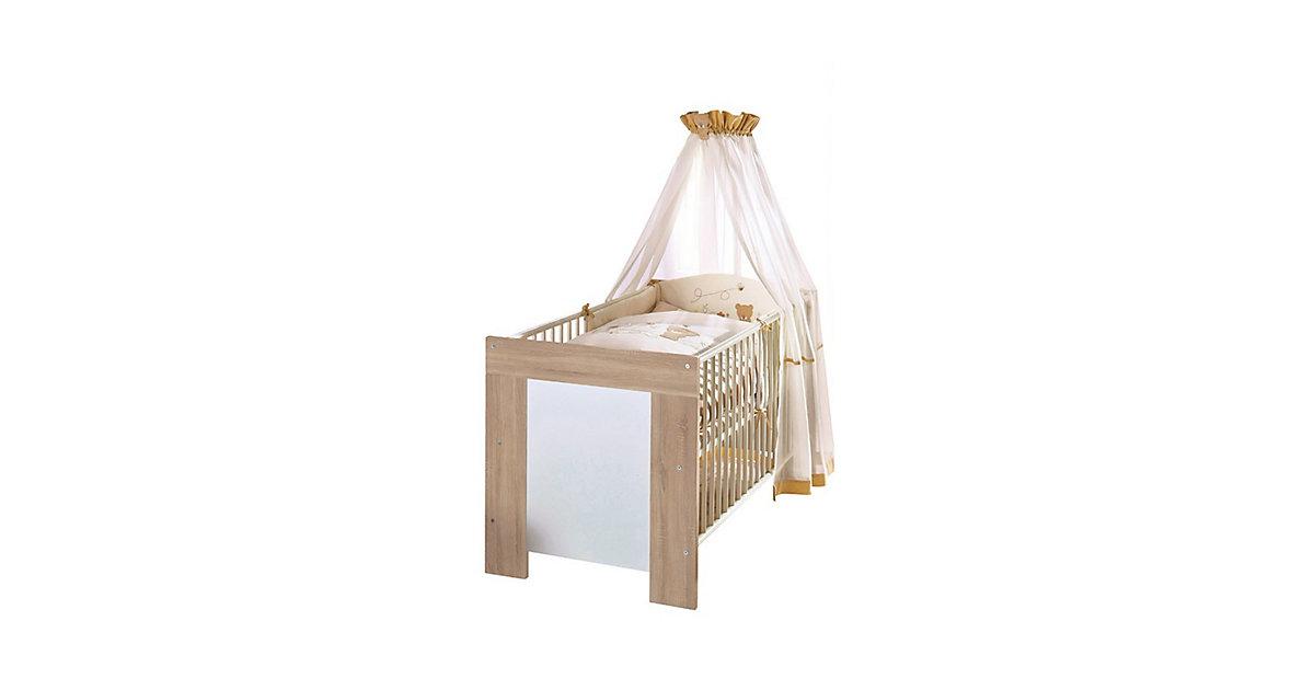 Babybett Michi inkl. Lattenrahmen + 3 Schlupfsprossen MDF Weiß 90x200 weiß Gr. 90 x 200