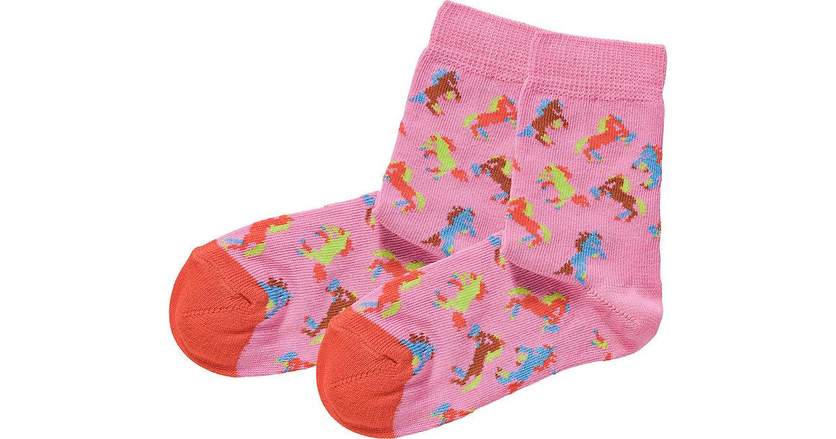 Socken HORSE , Organic Cotton rosa Gr. 22-24 Mädchen Kleinkinder