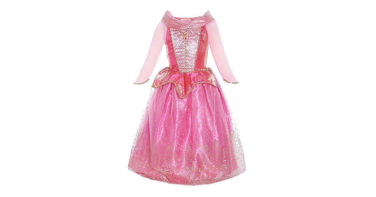 Kinderkostüm Aurora Prinzessinnenkleid Kinderkostüme rosa/pink Gr. 128/134 Mädchen Kinder