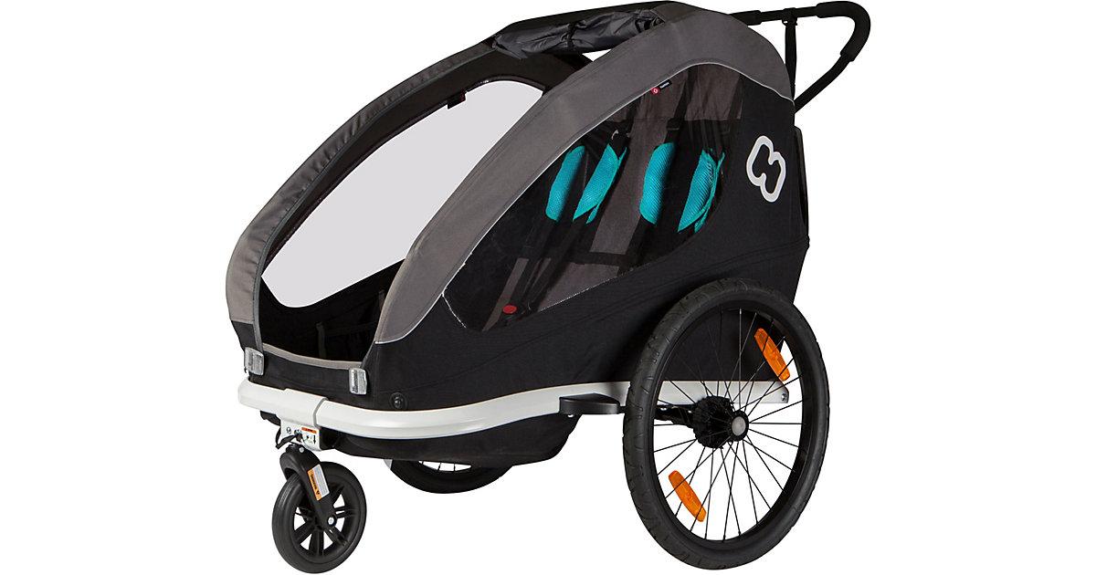 Fahrradanhänger TRAVELLER (incl. bicycle arm & stroller wheel) schwarz