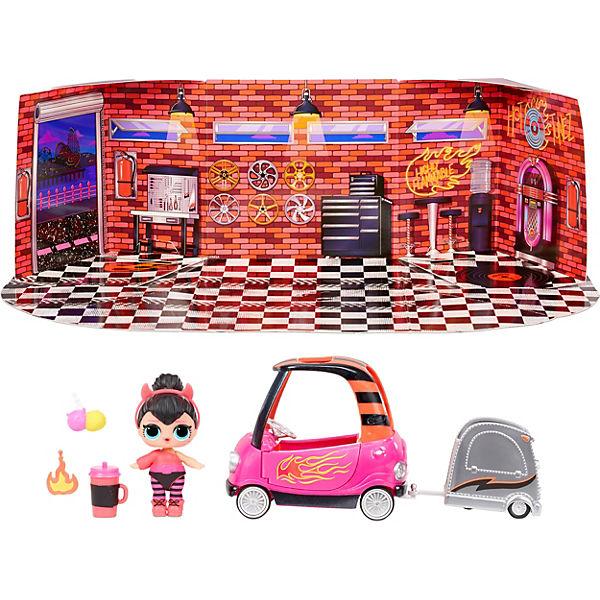 L.O.L. Surprise Furniture with Doll - BB Auto Shop & Spice, Serie 4