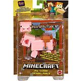 Набор Minecraft базовый фигурка+аксессуары Свинья GGP94