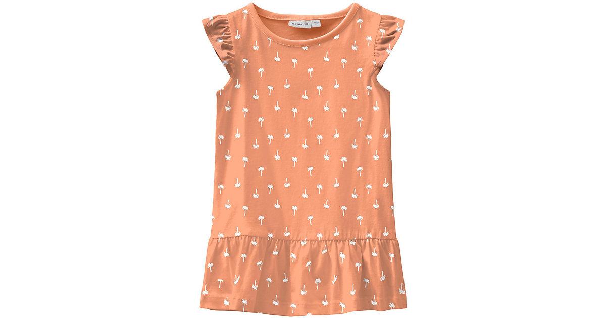 Kinder Jerseykleid NMFVIDA, Organic Cotton orange Gr. 92 Mädchen Kleinkinder
