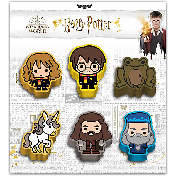 Radiergummi-Set Harry Potter, 6-tlg.