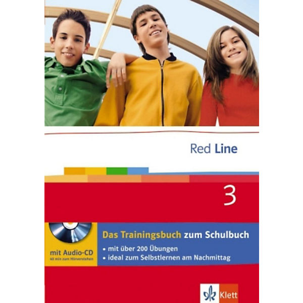 Red Line: Klasse 7, Das Trainingsbuch m. Audio-CD