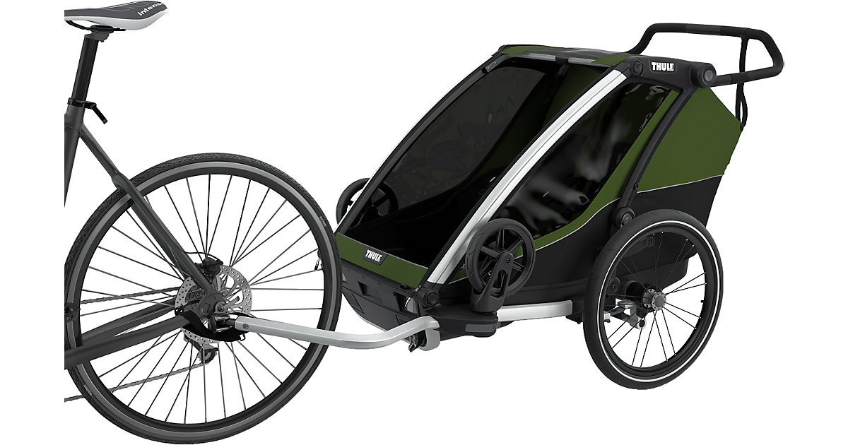 Fahrradanhänger Chariot Cab 2, Cypress Green oliv