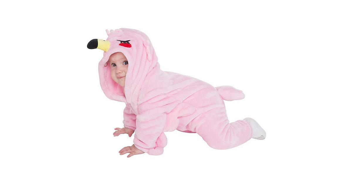Baby Strampler Kostüm (Einhorn, Drache, Fuchs, Panda, Dino, Pinguin, und mehr) Kinderkostüme rosa Gr. 80/86
