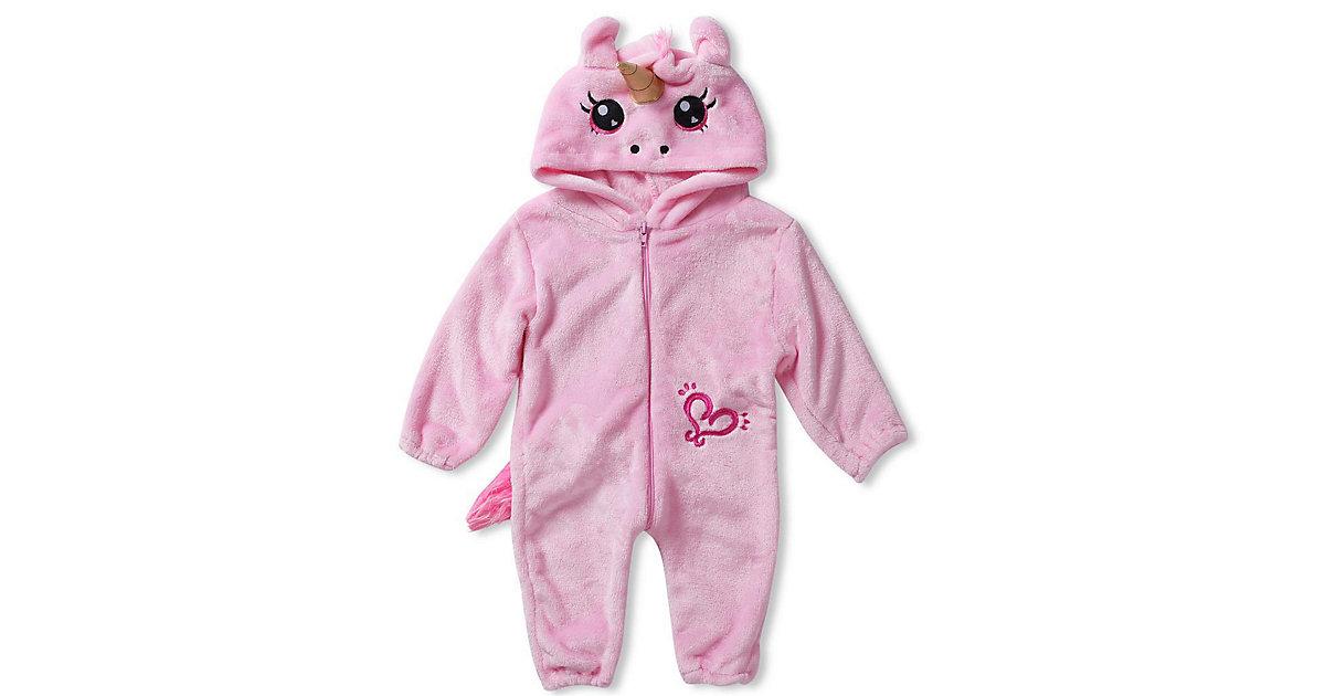 Baby Strampler Kostüm (Einhorn, Drache, Fuchs, Panda, Dino, Pinguin, und mehr) Kinderkostüme rosa-kombi Gr. 80/86