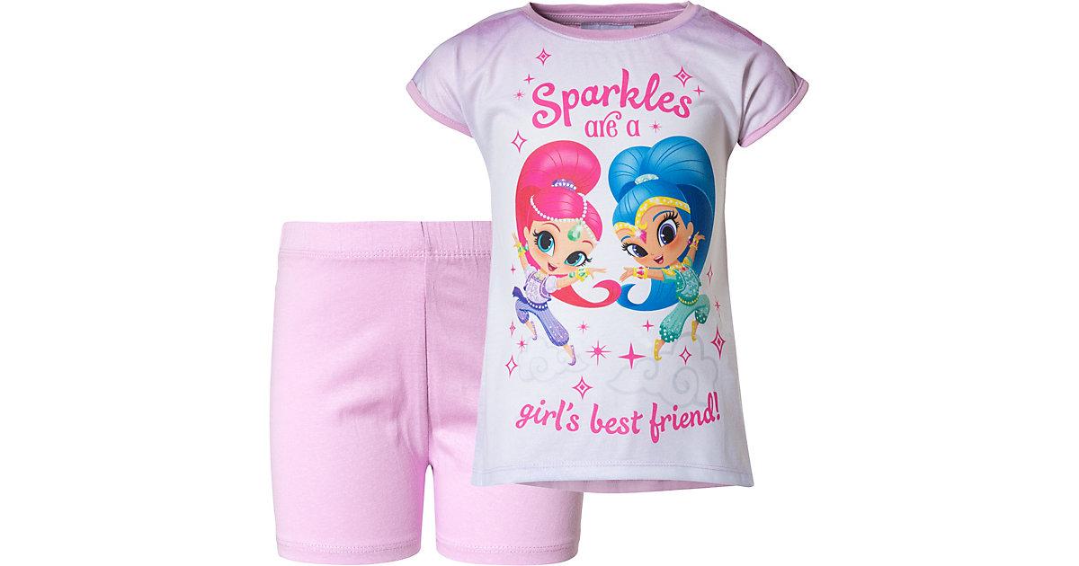Shimmer & Shine Schlafanzug  lila Gr. 110 Mädchen Kleinkinder
