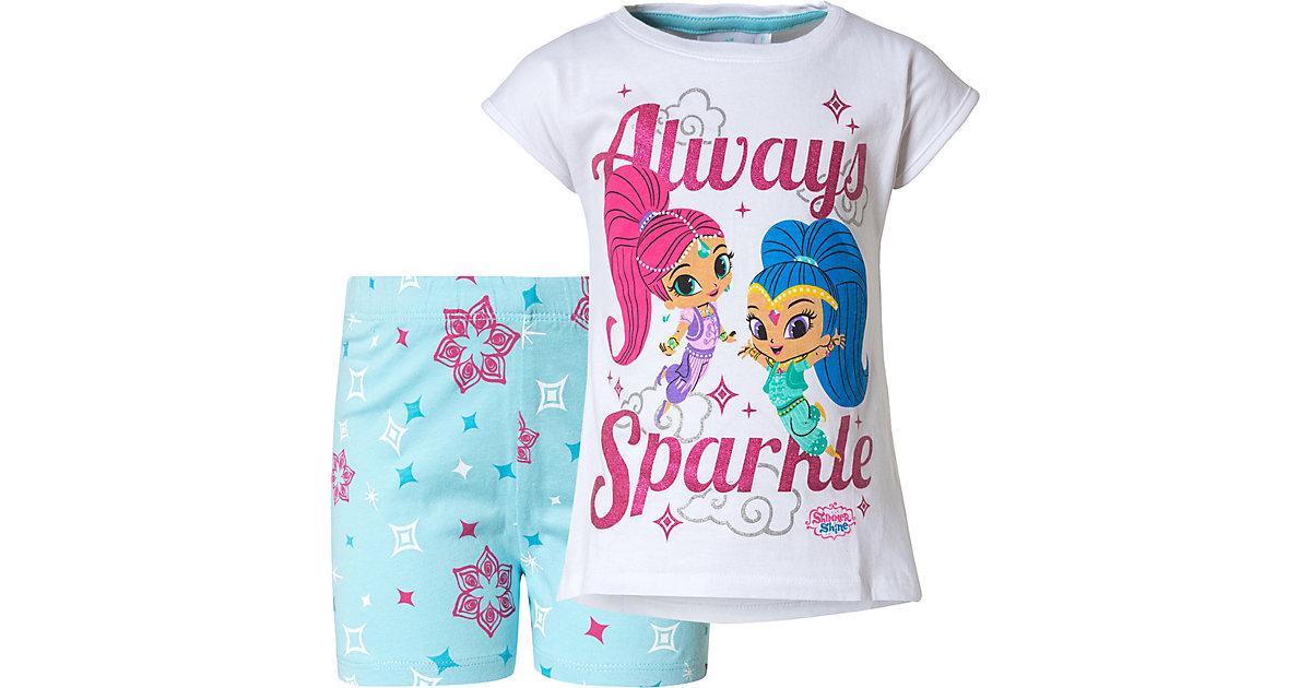 Shimmer & Shine Schlafanzug  weiß Gr. 98 Mädchen Kleinkinder