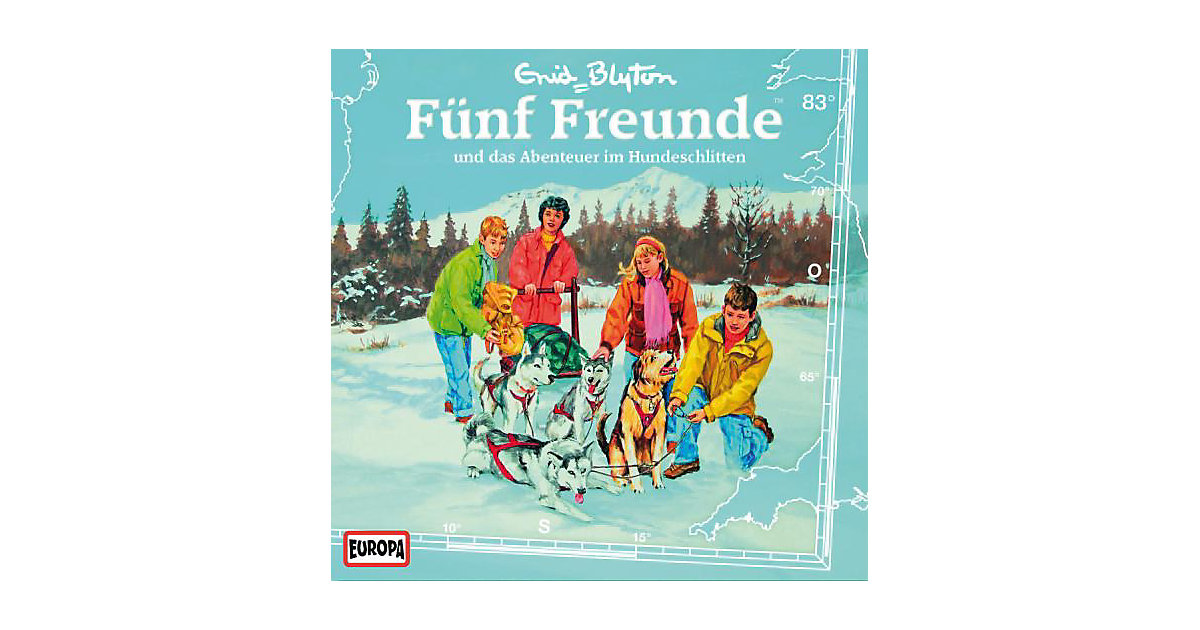 CD Fünf Freunde 83 - und das Abenteuer im Hundeschlitten Hörbuch
