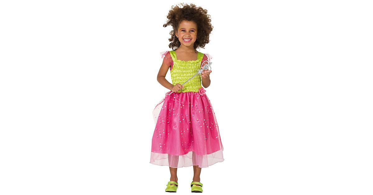Kostüm Blumenfee pink/gelb Gr. 116 Mädchen Kinder