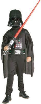 Kostüm Darth Vader, 4-tlg. schwarz Gr. 128/140 Jungen Kinder
