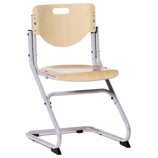 Schreibtischstuhl kinder ohne rollen  Schreibtischstuhl KID's Chair Plus silberfarbig/Buche, Kettler ...
