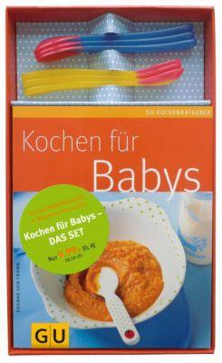 Buch - Kochen Babys, m. 6 Wärmesensor-Löffel  Kinder