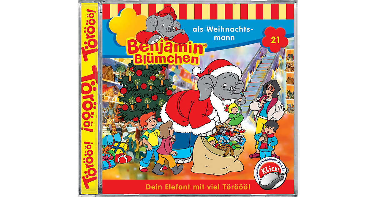 CD Benjamin Blümchen 21 - als Weihnachtsmann Hörbuch