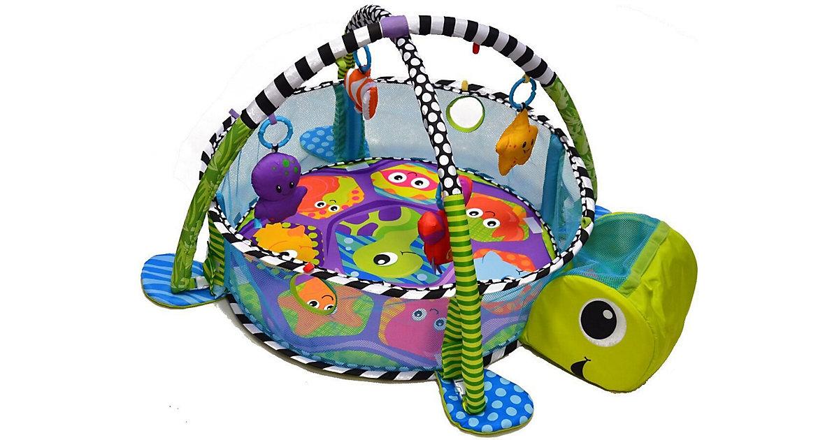Krabbeldecke Schildkröte mit Spielbogen und 30 Bällen mehrfarbig