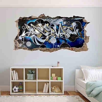 Wandtattoo Graffiti Music Wandausbruch Wandtattoos Dekodino Mytoys