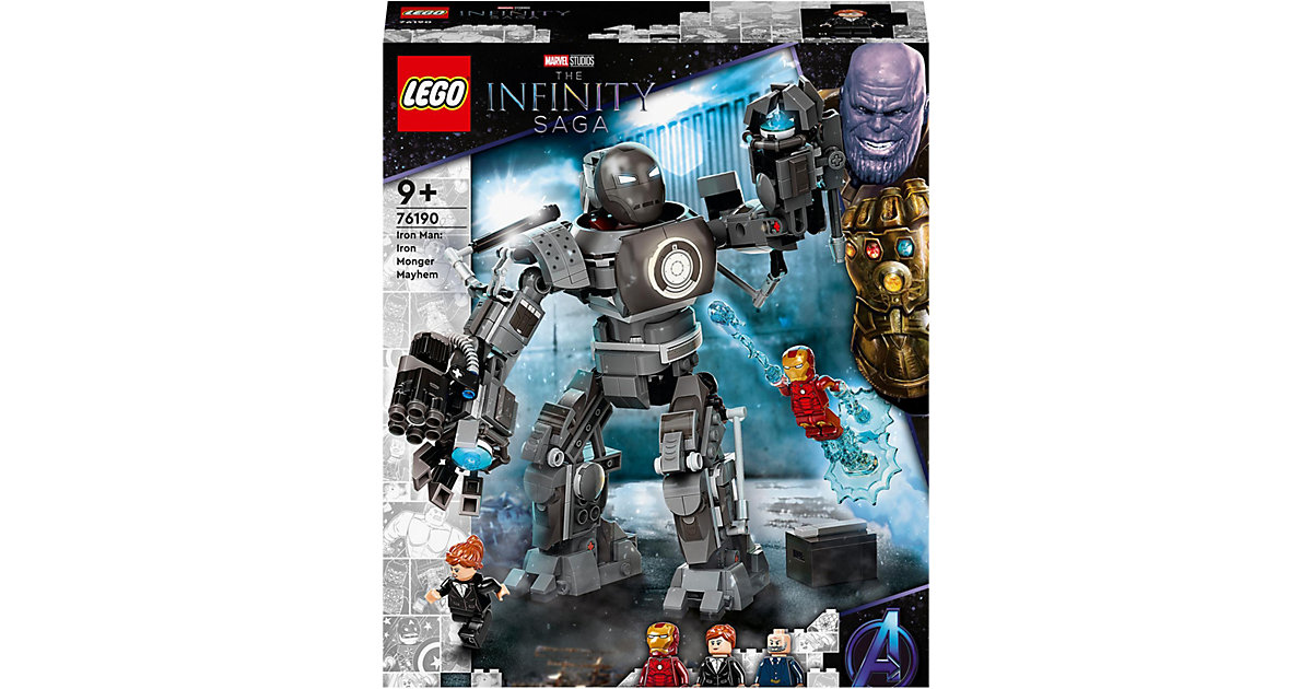 LEGO® Marvel Avengers 76190 Iron Man und das Chaos durch Iron Monger