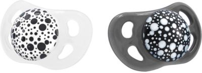 Schnuller, Black & White, 2-tlg. schwarz/weiß