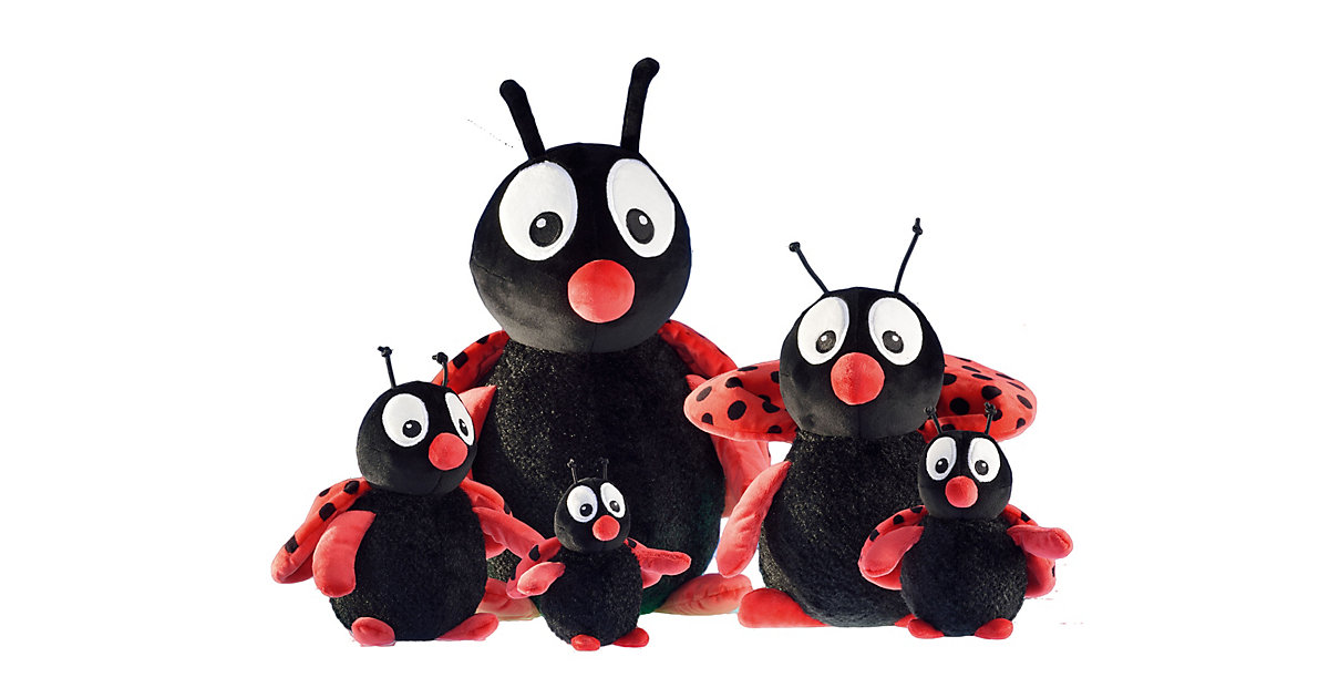 """Plüsch-Tier Marienkäfer """"Buggy"""" - Größe 14 cm schwarz/rot"""