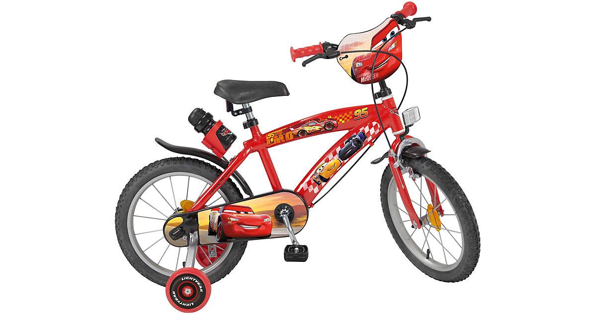 Fahrrad 16 Zoll Disney Cars rot-kombi
