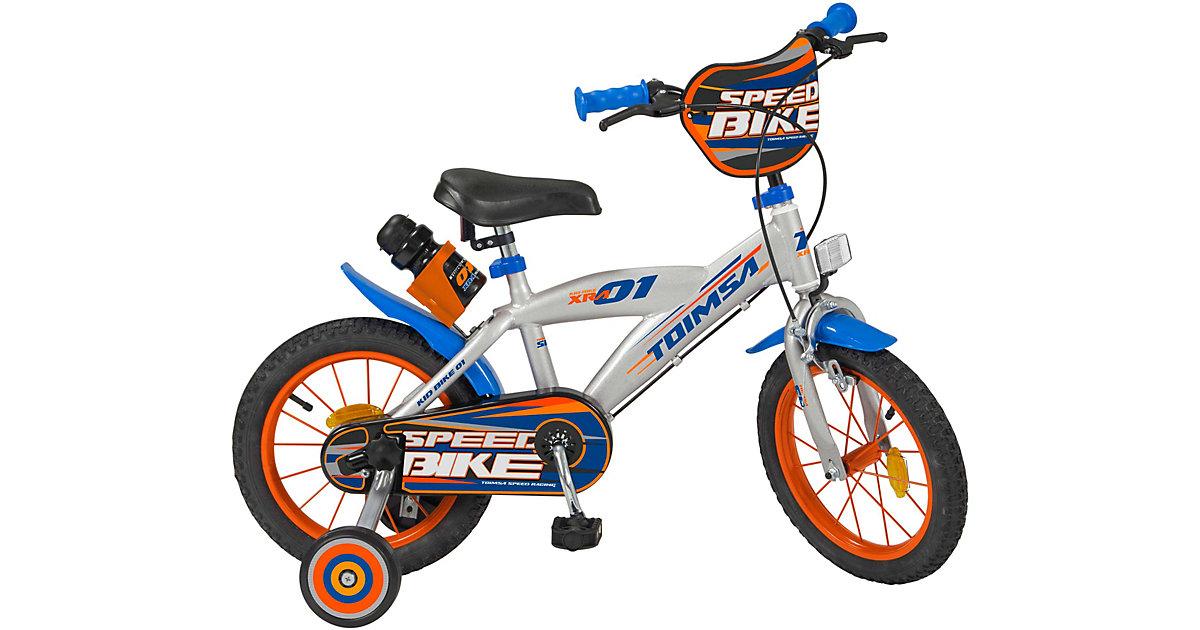 Fahrrad 14 Zoll Speed Racing silber-kombi