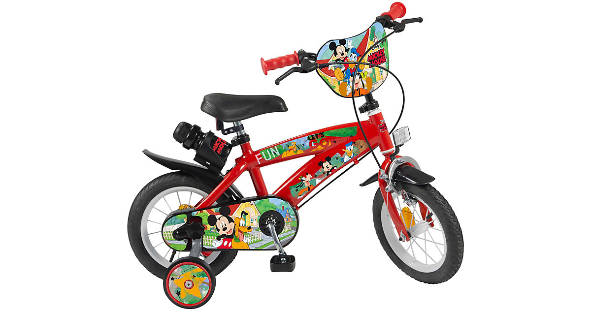Fahrrad 12 Zoll Disney Mickey rot-kombi