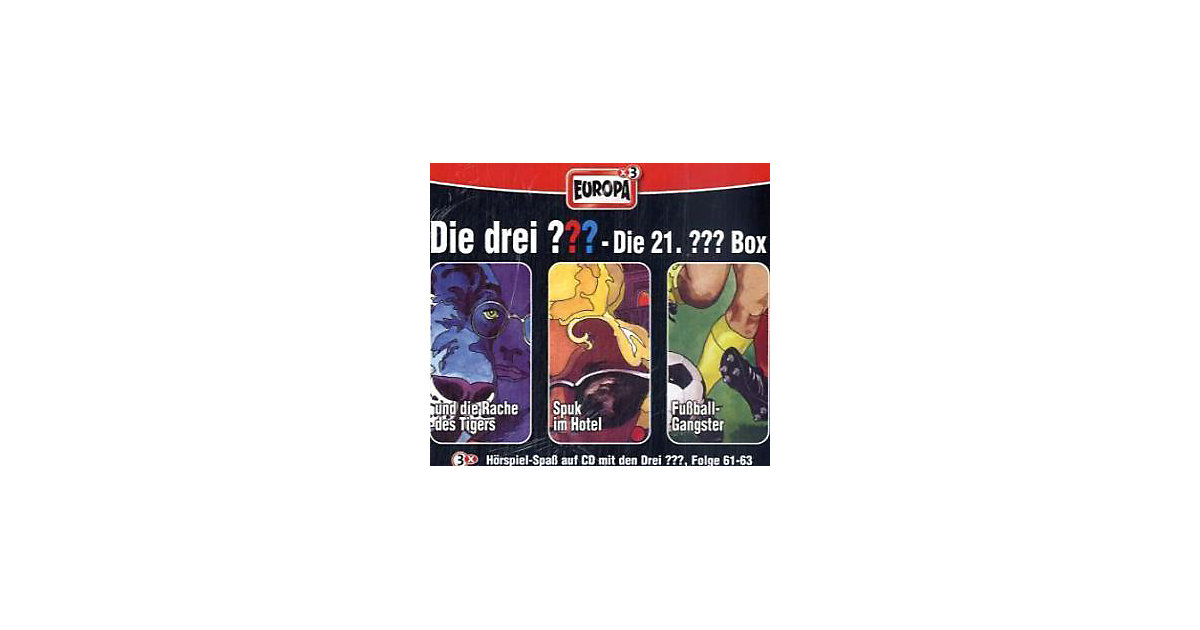 Die drei Fragezeichen, Die 21. Box, Folge 61-63, 3 Audio-CDs Hörbuch