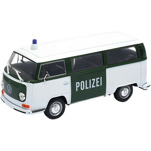 welly modellauto 72er vw bus t2 polizei 1 24 welly mytoys. Black Bedroom Furniture Sets. Home Design Ideas
