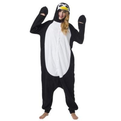Jumpsuit, Onesie Erwachsene Meerestiere (Pinguin) schwarz/weiß Gr. 164/170  Kinder