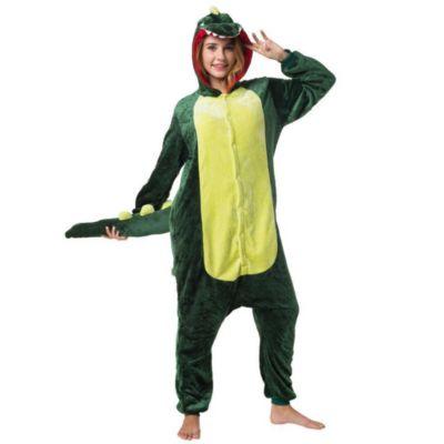 Jumpsuit, Onesie Erwachsene Meerestiere (Krokodil) grün Gr. 52/54  Kinder