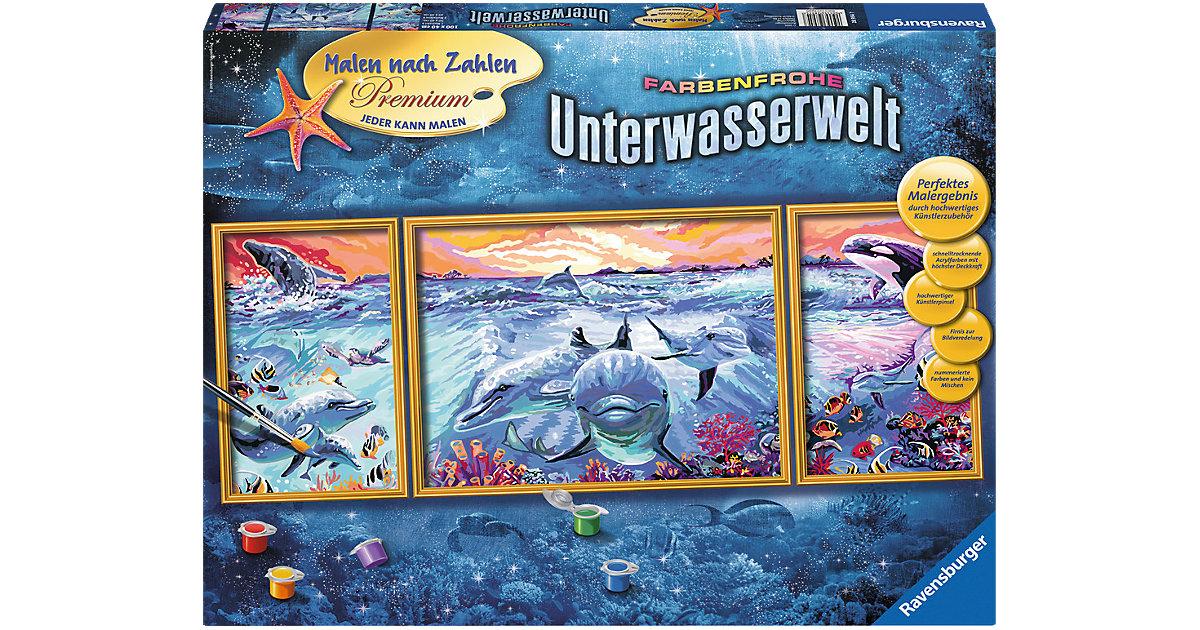 Ravensburger · Malen nach Zahlen Premium - Farbenfrohe Unterwasserwelt, 100x40 cm