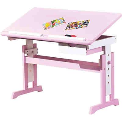 Abc Schreibtisch Titje Höhenverstellbar Rosaweiß Mytoys