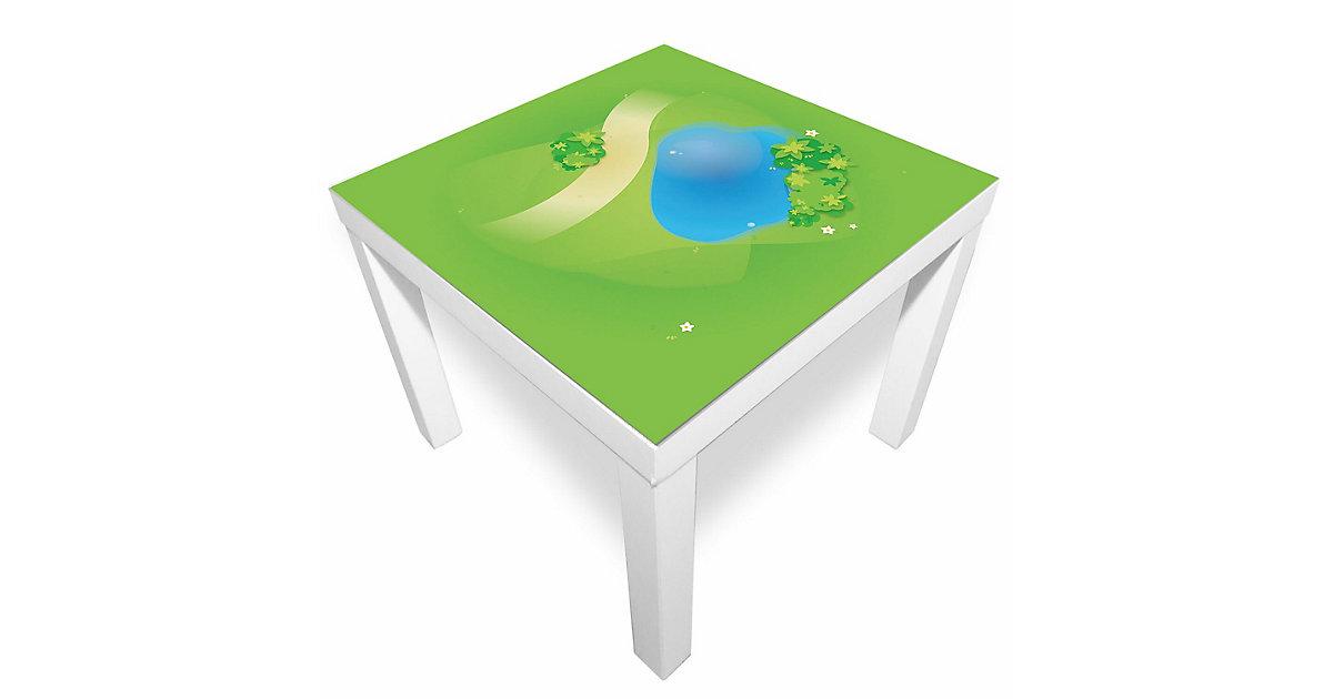 Spielmatte – Graslandschaft mit Teich grün/blau