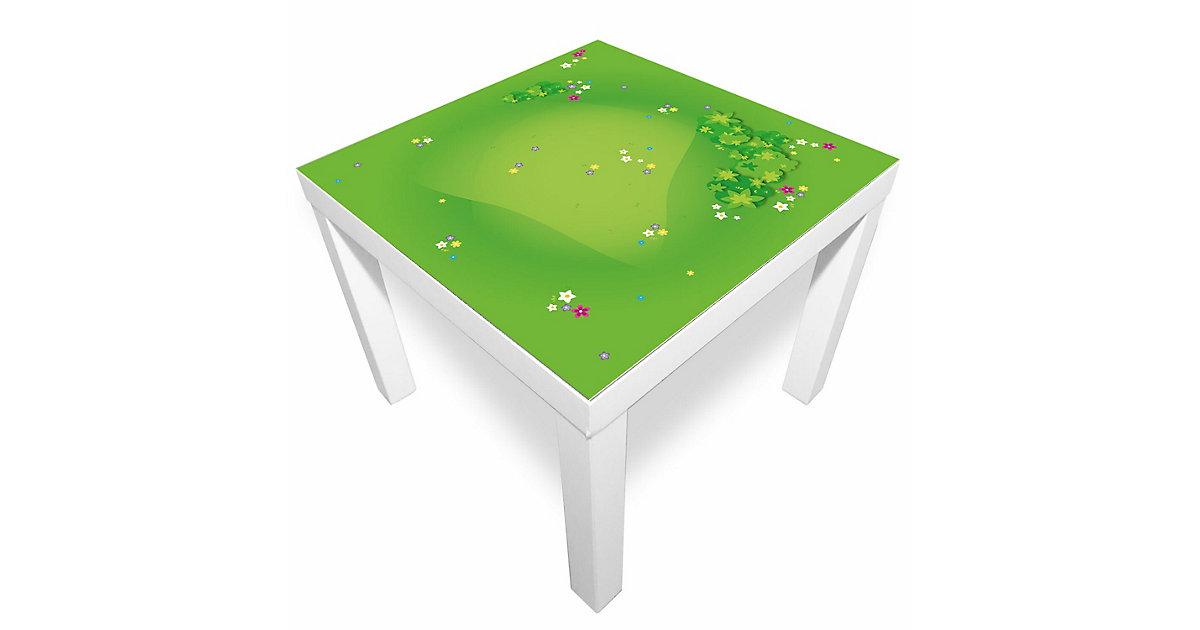 Spielmatte – Graslandschaft mit Blumen grün