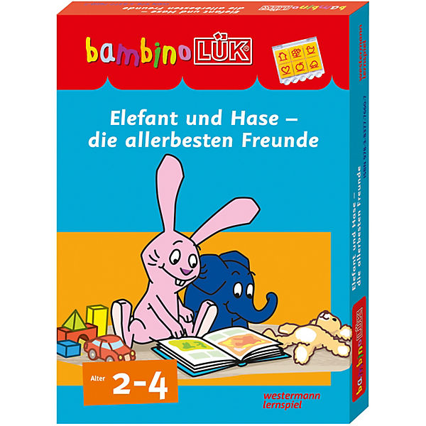 bambino l k set elefant und hase die allerbesten freunde bambinol k mytoys. Black Bedroom Furniture Sets. Home Design Ideas