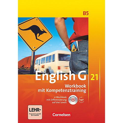 Cornelsen Verlag English G 21, Ausgabe B: 9. Schuljahr, Workbook m. CD-ROM (e-Workbook) u. Audio-CD jetztbilligerkaufen