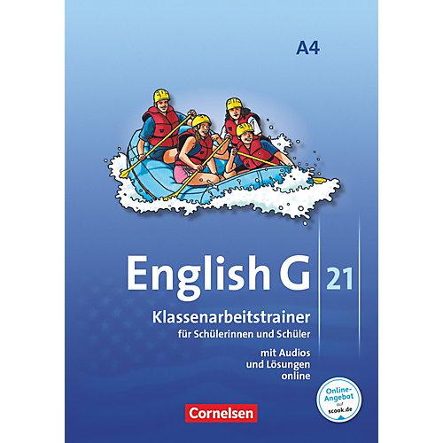 Cornelsen Verlag English G 21, Ausgabe A: 8. Schuljahr, Klassenarbeitstrainer m. Audio-CD jetztbilligerkaufen