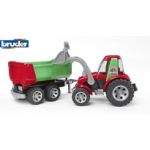 Kiekebusch Angebote Bruder BRUDER 20116 ROADMAX Traktor m. Frontlader und Kippanhänger