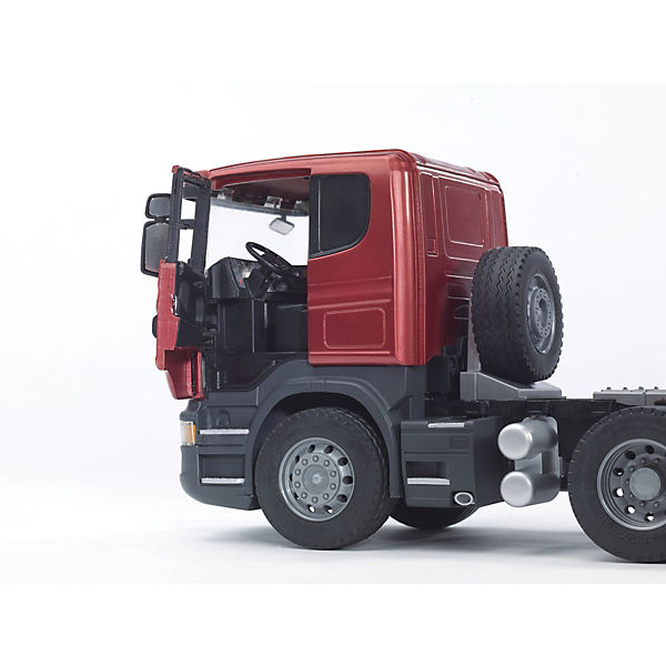 Машинка Bruder Тягач с прицепом–платформой Scania с гусеничным бульдозером CAT