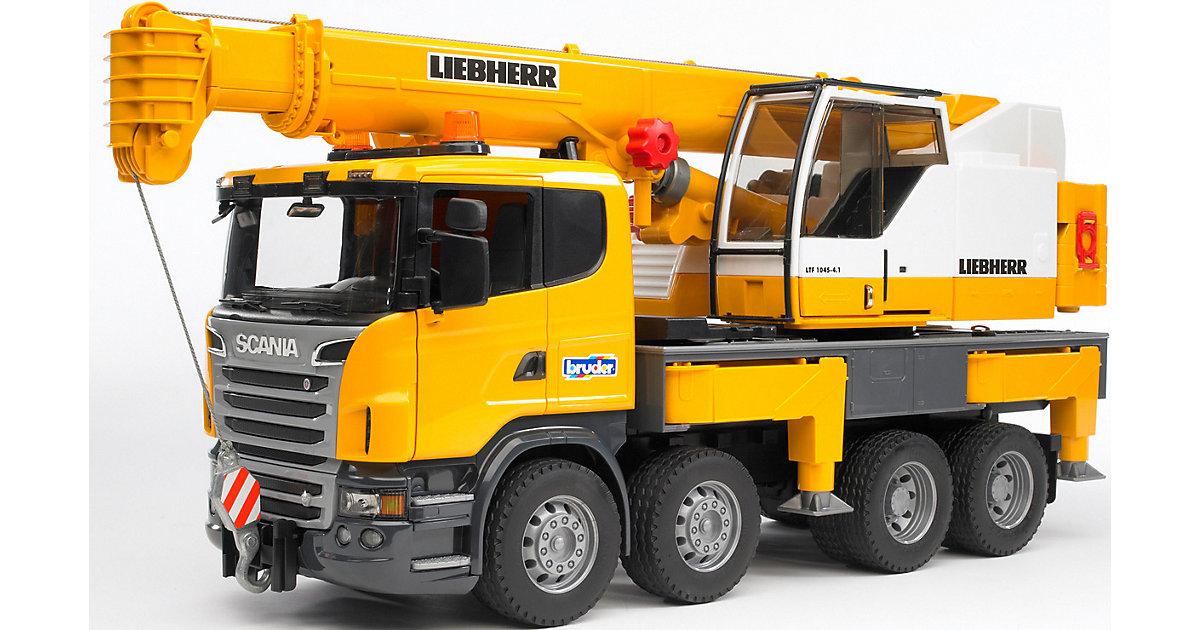 BRUDER 03570 Scania Liebherr Kran-LKW m. Licht und Sound