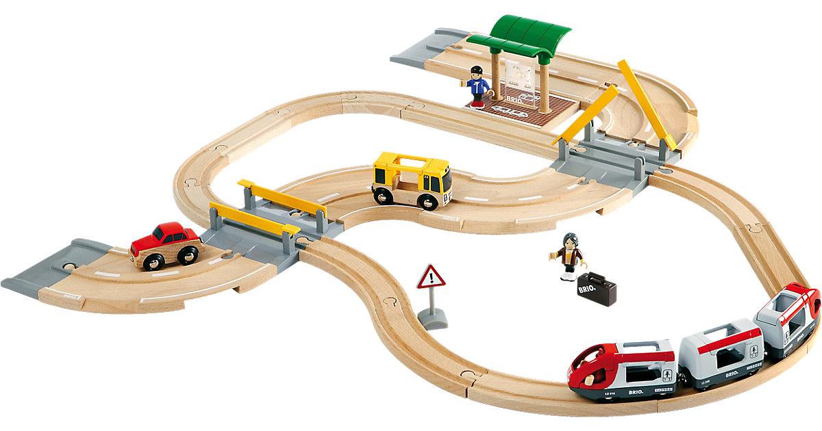 Brio · Straßen & Schienen - Reisezug Set