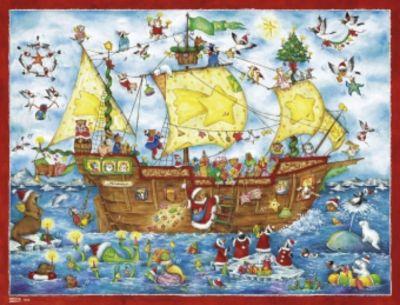 Weihnachten, Ahoi!, Adventskalender (50 X 38 Cm)