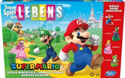 Das Spiel des Lebens Super Mario Brettspiel Kinder ab 8 Jahren, Minispiele spielen, Sterne sammeln und gegen Bowser kämpfen  Kinder