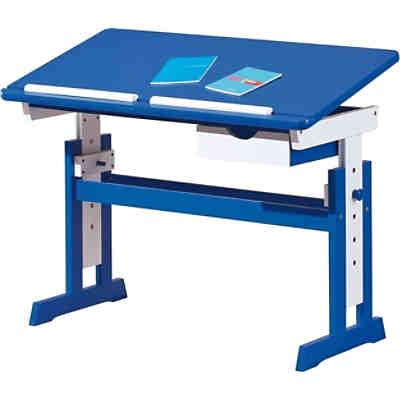 Abc Schreibtisch Titje Höhenverstellbar Blauweiß Mytoys