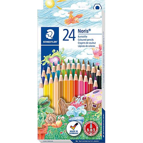 Карандаш цветной Noris Club набор 24 цвета от Staedtler